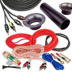 Акустический кабель, Монтажные комплекты, Силовые кабели, RCA кабели, Конденсаторы, Аудиоаксессуары по брендам