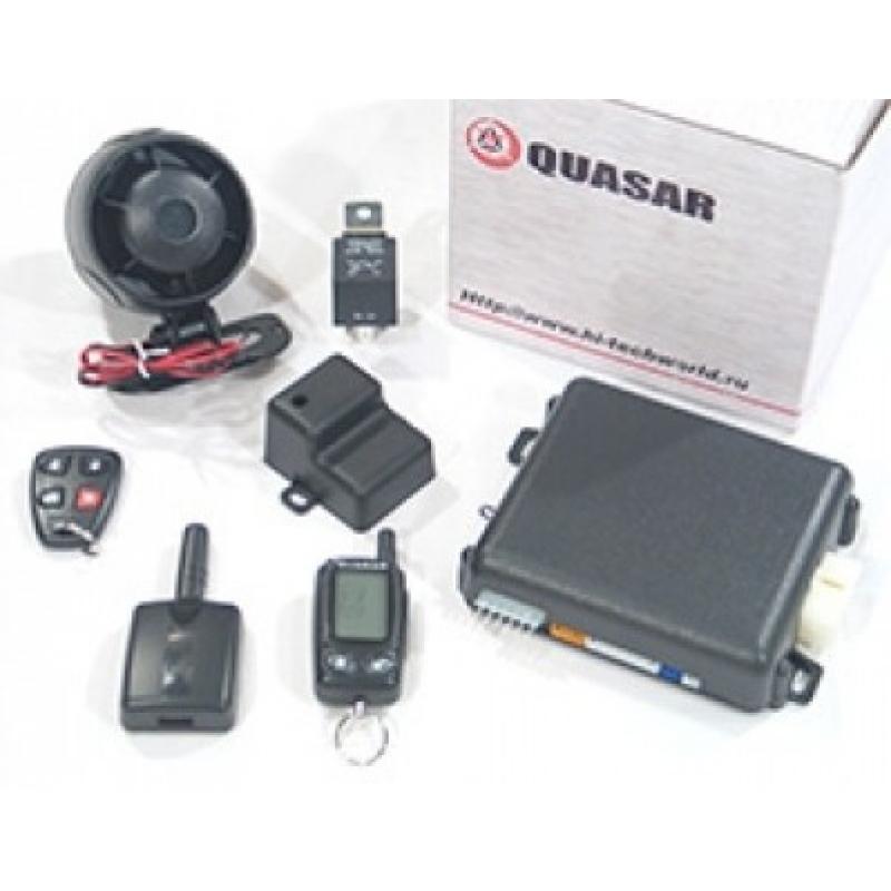 Quasar 880R автосигнализация с автозапуском и обратной связью