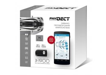 Автосигнализация PANDECT  X - 1900 3G - Охранно-противоугонная микросистема с бесключевым автозапуском, 2xCAN-интерфейсом, GPRS, 3G GSM-модем