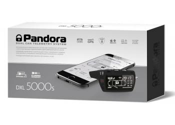 Автосигнализация PANDORA DXL 5000 S с бесключевым автозапуском (технология-Clone), диалоговый код, управление с телефона, резервный GSM-канал, функция иммобилайзера, брелок LCD D468, брелок R468, брелок-метка, CAN-интерфейс