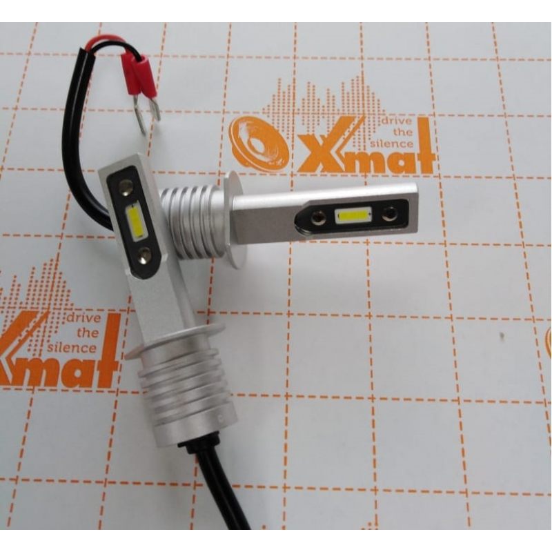 Cветодиодные LED лампы PILOT V12 H1 - мощность 25Вт, 9-30Вольт, нейтральный белый свет, светоотдача 4000Лм, чип csp Y2121, комплект 2шт, гарантия 6 месяцев