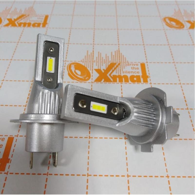 Cветодиодные LED лампы PILOT V12 H7 - мощность 25Вт, 9-30Вольт, нейтральный белый свет, светоотдача 4000Лм, чип csp Y2121, комплект 2шт, гарантия 6 месяцев