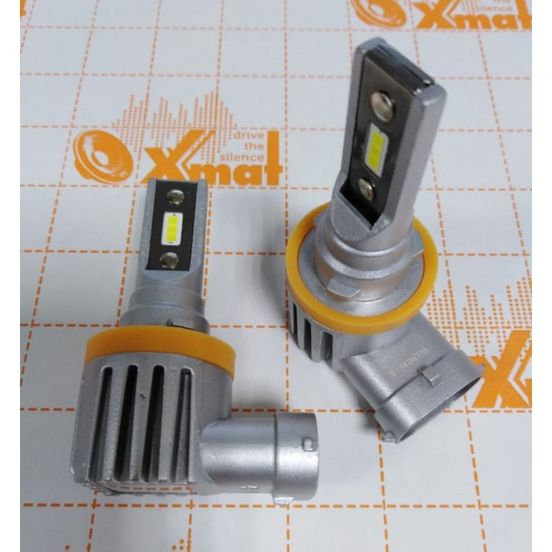Cветодиодные LED лампы PILOT V12 H11 - мощность 25Вт, 9-30Вольт, нейтральный белый свет, светоотдача 4000Лм, чип csp Y2121, комплект 2шт, гарантия 6 месяцев
