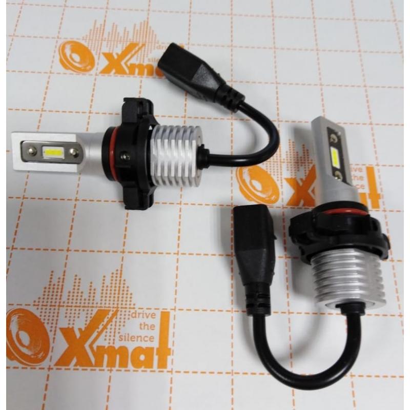 Cветодиодные LED лампы PILOT V12 PSX24 - мощность 25Вт, 9-30Вольт, нейтральный белый свет, светоотдача 4000Лм, чип csp Y2121, комплект 2шт, гарантия 6 месяцев
