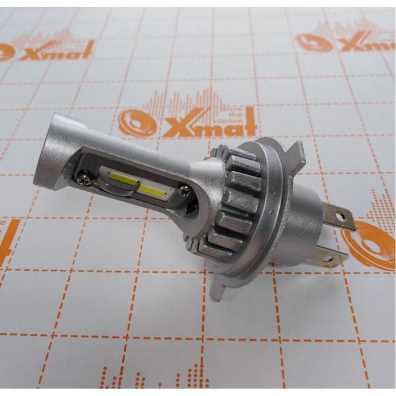 Cветодиодные LED лампы PILOT V12 H4 - мощность 25Вт, 9-30Вольт, нейтральный белый свет, светоотдача 4000Лм, чип csp Y2121, комплект 2шт, гарантия 6 месяцев, для ближнего и дальнего света