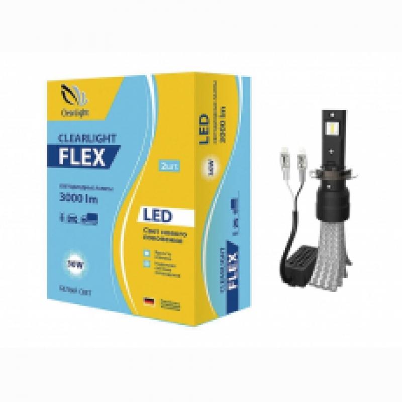 Cветодиодные LED лампы Clearlight Flex H7  5000K головной свет (комплект) для ближнего, дальнего или противотуманного света