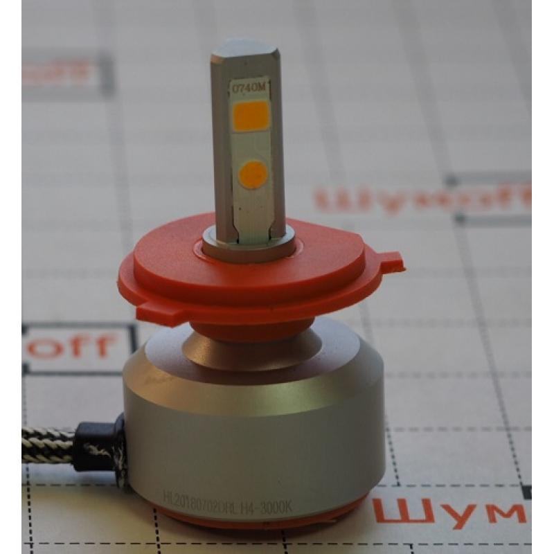 Cветодиодные LED лампы PILOT H4 3000К 5400 lm (2шт.) для ближнего и дальнего света
