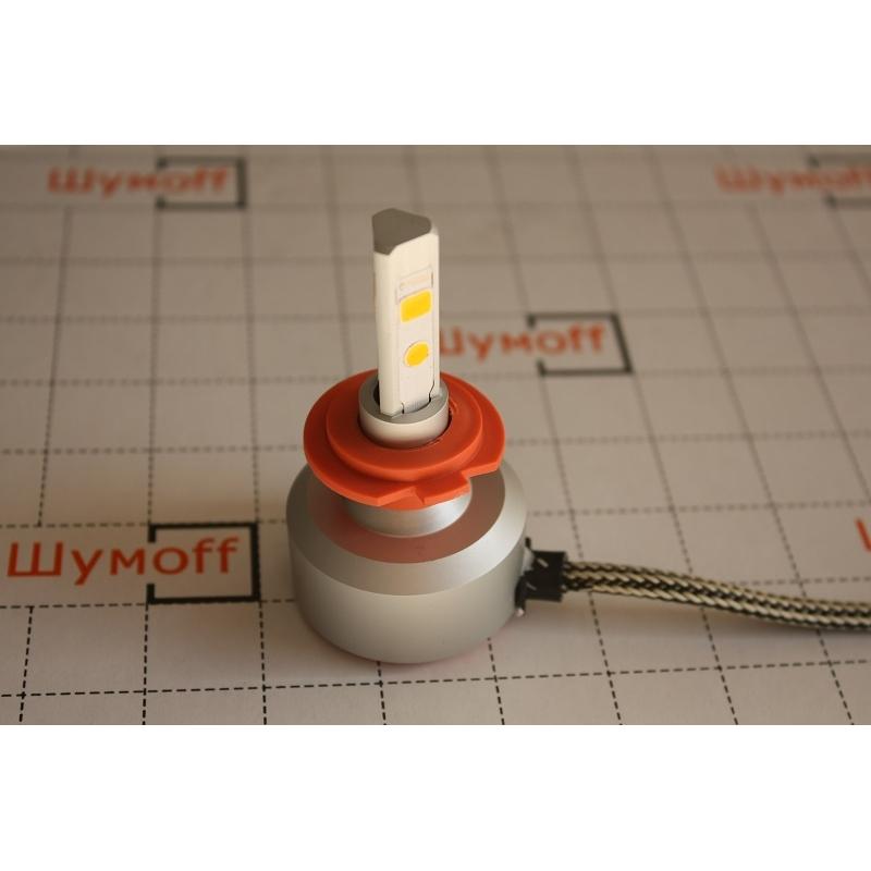 Cветодиодные LED лампы PILOT H7 3000К 5400 lm (2шт.) для ближнего, дальнего или противотуманного света
