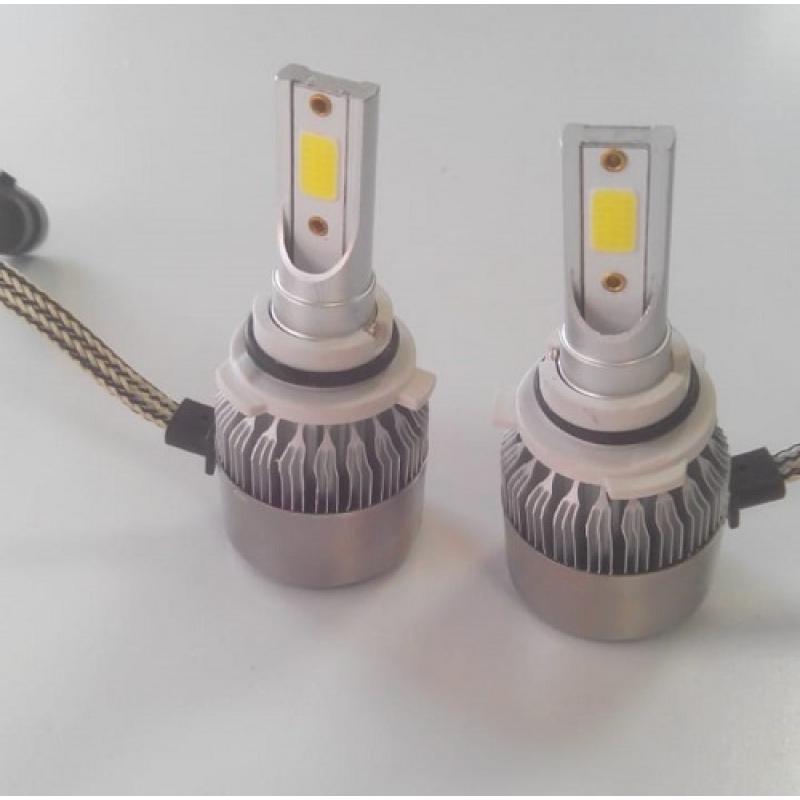 Cветодиодные LED лампы PILOT C6 НВ4 - нейтральный белый свет, чип COB, комплект 2 шт.