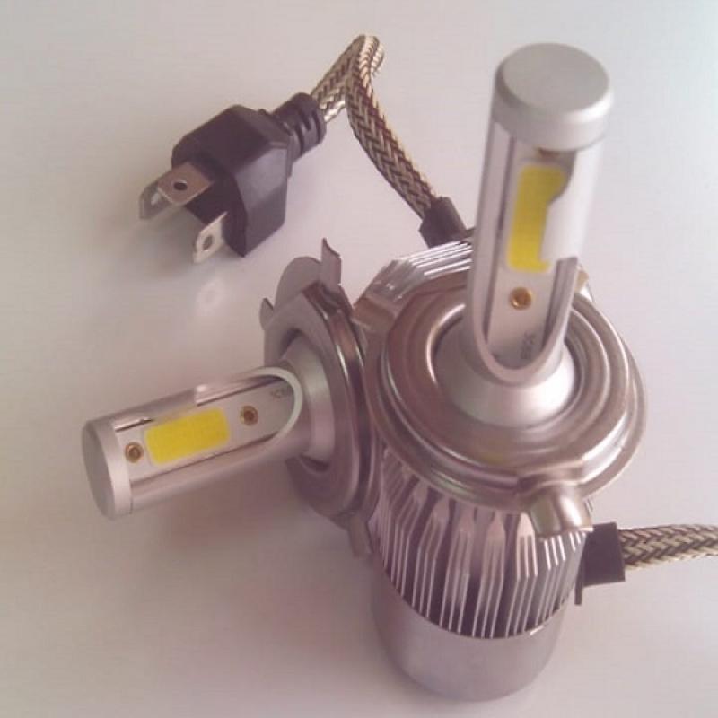 Cветодиодные Bi-LED лампы PILOT C6 Н4 - нейтральный белый свет, чип COB, для ближнего и дальнего света, комплект 2 шт.