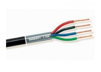 TASKER C268, акустический 4-жильный кабель, 16AWG+13AWG (2x1,5мм2 + 2х2,5мм2), бескислородная медь, Италия (бухта - 100 метров)
