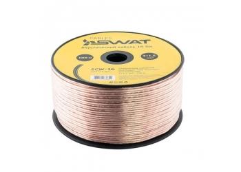 SWAT SCW-16 акустический кабель , омедненный алюминий, бухта 100 метров, цена за 1 метр