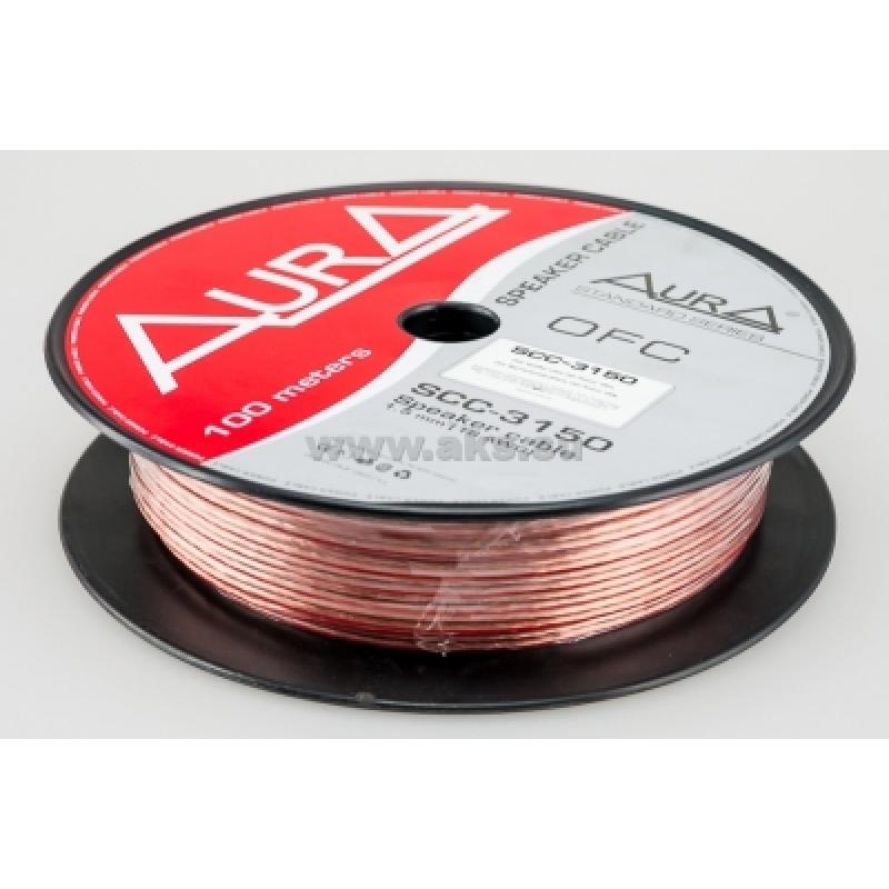 Aura SCC-3150, акустический кабель, 16 AWG ( 2х1,5 мм2), бескислородная медь , бухта 100 м.