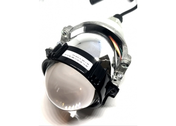 Светодионая Би-линза SOL 7 - чёткая светотеневая граница, работа в режимах ближний и  дальний свет, универсальная установка в рефлекторную фару в цоколь Н