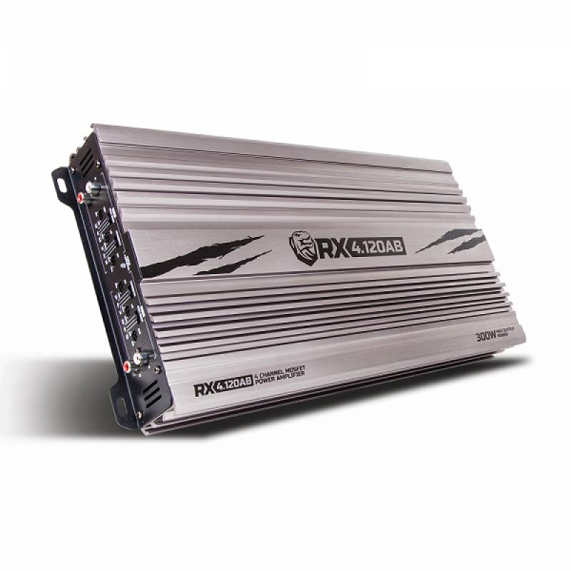 4-канальный усилитель KICX RX4.120AB, 4х120Вт 4Ом, 4х150Bт 2Ом, Мост 2х300Bт