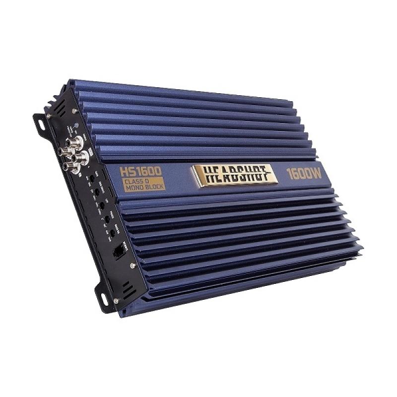1-канальный усилитель KICX HeadShot 1600, 1х600Вт 4Ом, 1х1600Bт 1Ом, класс D