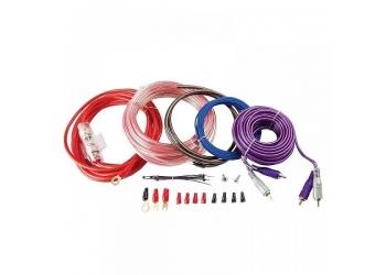 Установочные комплекты проводов KICX PK 208, для 2-х канального усилителя 8Ga