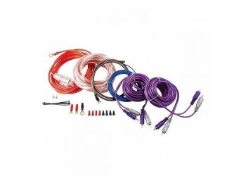 Установочные комплекты проводов KICX PK 408, для 4-х канального усилителя 8Ga