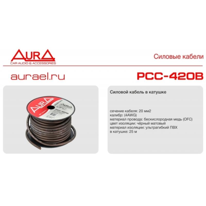 AURA PCС-420B силовой кабель 4Ga (25мм2) бескислородная медь