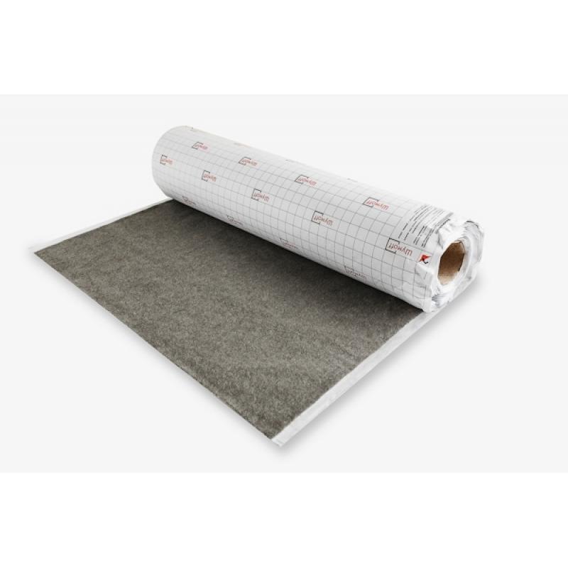 Шумофф Акустик ( Карпет на клеевой основе) цвет Серый, ширина рулона 1,25 м. (цена за 1 погонный метр)