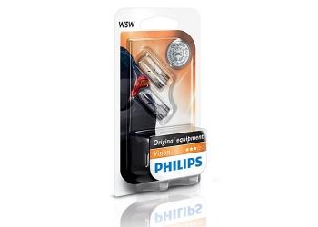 Лампа габарит Philips W5W 12V/5W блистер 2 шт