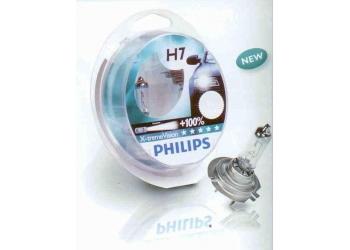 Галогеновая лампа Philips H1 X-treme Vision 2 шт