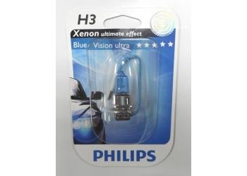 Галогеновая лампа Philips  H3  Blue Vision ultra блистер 1 шт