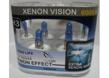 Галогеновая лампа Clearlight H4  P43T Xenon Vision 2шт