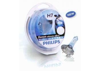 Галогеновая лампа Philips H4  Blue Vision ultra (H4 2 шт+W5W 2 шт)