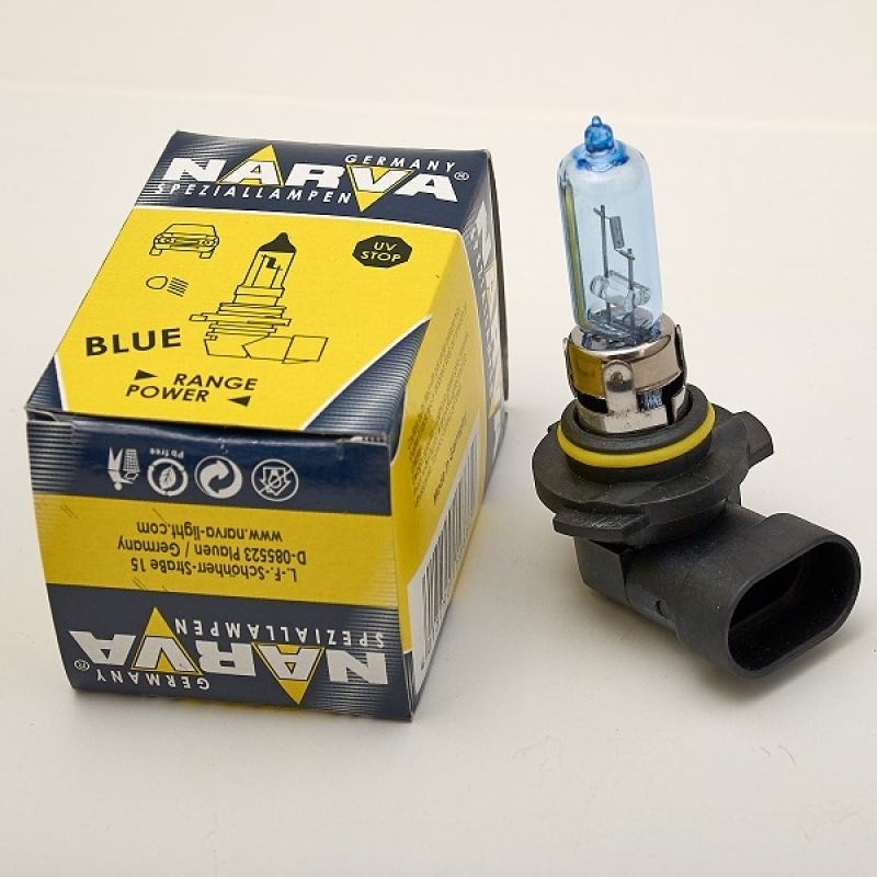 Галогеновая лампа Narva HB3 12V 60W +30% яркости RANGE POWER BLUE
