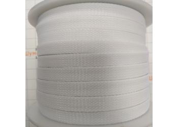 Защитная полиэстеровая оплетка ( змеиная кожа ) PILOT PL-1020 Белая, диаметр 10мм, цена за 1 метр, в бухте 100 метров