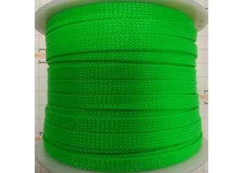 Защитная полиэстеровая оплетка ( змеиная кожа ) PILOT PL-1020 Зеленая, диаметр 10мм, цена за 1 метр, в бухте 100 метров