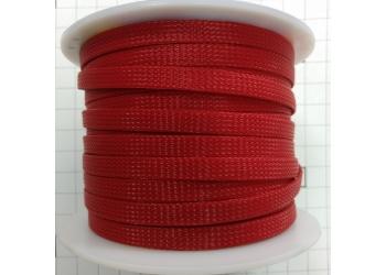 Защитная полиэстеровая оплетка ( змеиная кожа ) PILOT PL-1020 Красная, диаметр 10мм, цена за 1 метр, в бухте 100 метров