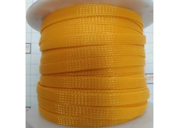 Защитная полиэстеровая оплетка ( змеиная кожа ) PILOT PL-1020 Оранжевая, диаметр 10мм, цена за 1 метр, в бухте 100 метров