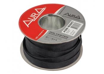 Защитная полиэстеровая оплетка ( змеиная кожа ) Aura ASB-B920, Черная, диаметр 9мм, цена за 1 метр, в бухте 30 метров