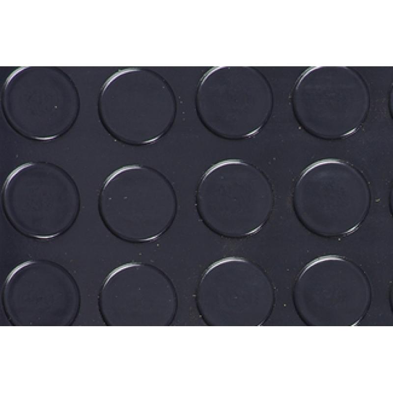Автолинолеум Автолин Стандарт с пятачками ЧЕРНЫЙ, ширина рулона 1,85м (цена указана за пог.м.)