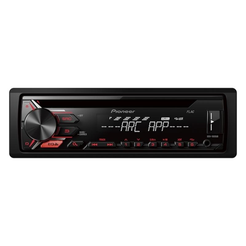 Автомагнитола PIONEER DEH-1900UB, 1DIN, CD/MP3-проигрыватель, 4X50Вт, USB, AUX-вход, с поддержкой FLAC