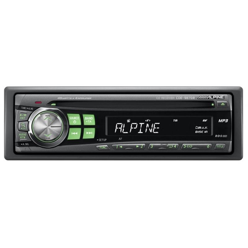 Автомагнитола ALPINE CDA-9870R, 1DIN, CD/MP3-проигрыватель, 4X50Вт, AUX-вход, (распродажа)