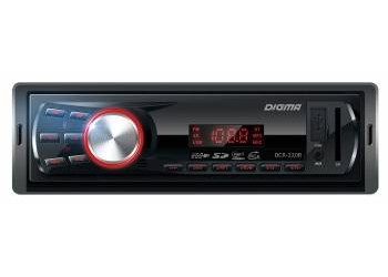 Автомагнитола Digma DCR-220R, 1DIN, 4X45Вт, USB/SD, AUX-вход