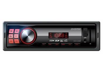 Автомагнитола Digma DCR-230R, 1DIN, 4X45Вт, USB/SD, AUX-вход