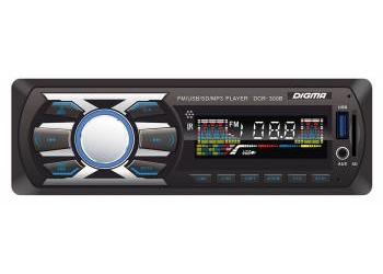 Автомагнитола Digma DCR-300B, 1DIN, 4X45Вт, USB/SD, AUX-вход