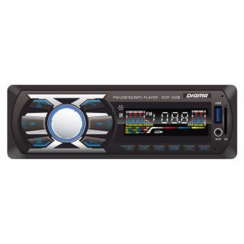 Автомагнитола Digma DCR-300G, 1DIN, 4X45Вт, USB/SD, AUX-вход