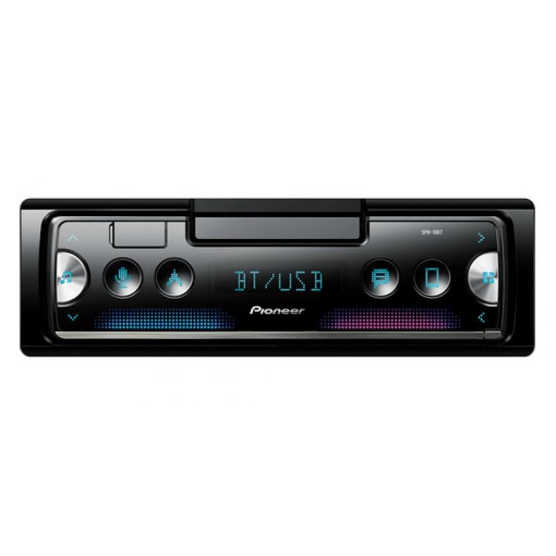Автомагнитола PIONEER SPH-10BT, 1DIN, 4X50Вт, USB, AUX-вход, с поддержкой FLAC, Bluetooth, смартресивер