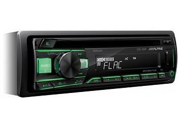 Автомагнитола ALPINE CDE-201R, 1DIN, CD/MP3-проигрыватель, 4X50Вт, USB, AUX-вход