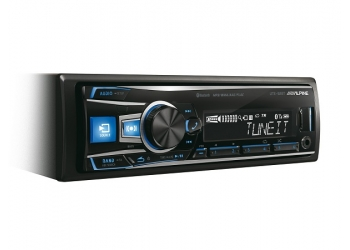 Автомагнитола ALPINE UTE-92BT, 1DIN, 4X50Вт, USB, AUX-вход, Bluetooth, 3 RCA-выхода
