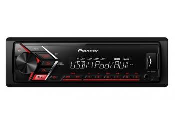 Автомагнитола PIONEER MVH-S100UI, 1DIN, 4X50Вт, USB, AUX-вход, с поддержкой FLAC