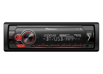 Автомагнитола PIONEER MVH-S410BT, 1DIN, 4X50Вт, USB, AUX-вход, с поддержкой FLAC, Bluetooth