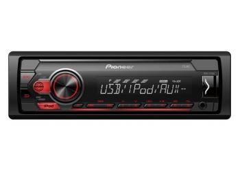 Автомагнитола PIONEER MVH-S110UI, 1DIN, 4X50Вт, USB, AUX-вход, с поддержкой FLAC