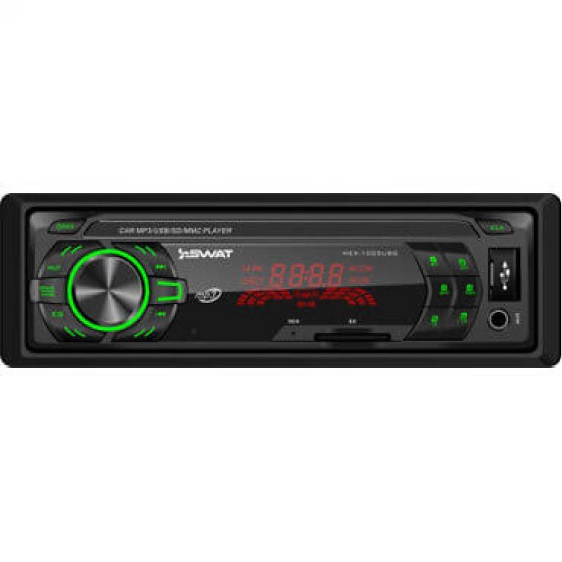 Автомагнитола SWAT MEX-1001UBG, 1DIN, 2X35Вт, USB/SD, AUX-вход