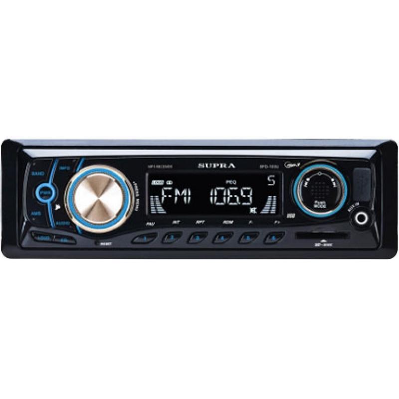 Автомагнитола SUPRA SFD-103U, 1DIN, 4X50Вт, USB, AUX-вход